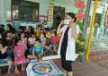 Trường mẫu giáo Đại Chánh tổ chức hướng dẫn cho trẻ cách đeo khẩu trang và vệ sinh tay để phòng tránh dịch covid 19